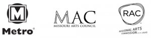 Metro Logo | Missouri Arts Council Logo | Regional Arts Commission of St. Louis Logo
